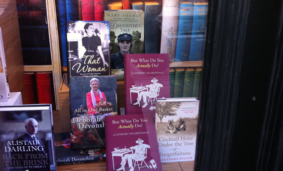 That Women in the window of Hatchard's Piccadilly book store