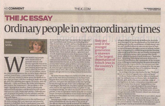 The Jewish Chronicle - Ordinary People in Extraordinary Times