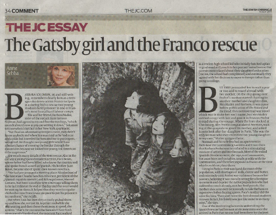 The Gatsby Girl and the Franco Rescue
