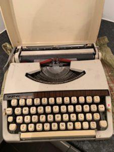 My first portable typewriter