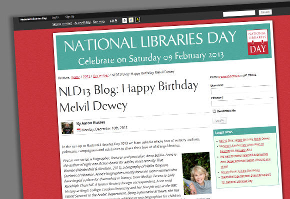 National Libraries Day - Happy Birthday Melvil Dewey