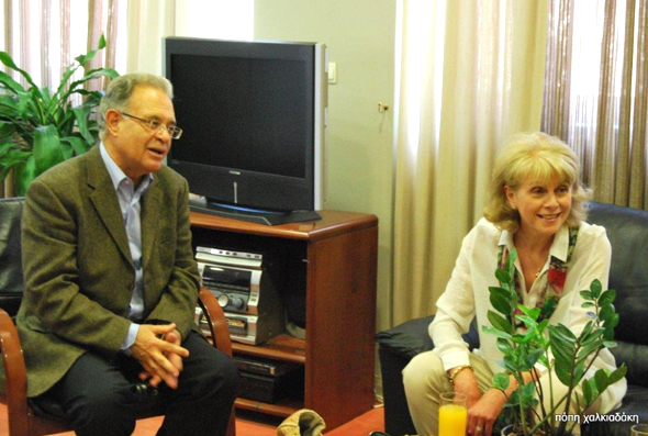 Anne Sebba Meets the Mayor of Aghios Nikolaus