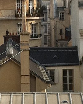View from my bedroom: Paris rooftops