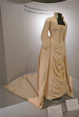 The wedding dress worn by Wallis Simpson's 1st mother -in-law, now restored at a cost of more than £4,000
